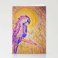 parrot Stationery Cards featuring PARROT  by MAGIC DUST