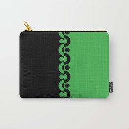 Green & Black  / Two Tone Modern Carry-All Pouch