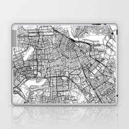 Amsterdam White Map Laptop & iPad Skin