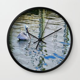 Florida pelican Wall Clock