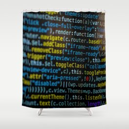 Code Master (Color) Shower Curtain