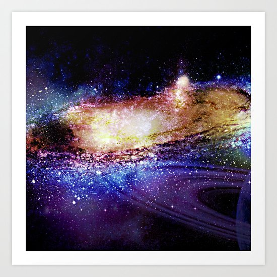 space explosion Art Print