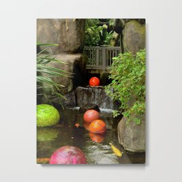 Conservatory Waterfall Metal Print