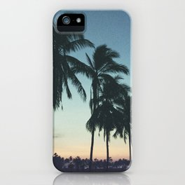 Tropical sunsets iPhone Case