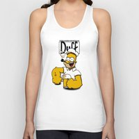 popeye Tank Tops featuring Homer-Popeye by le.duc