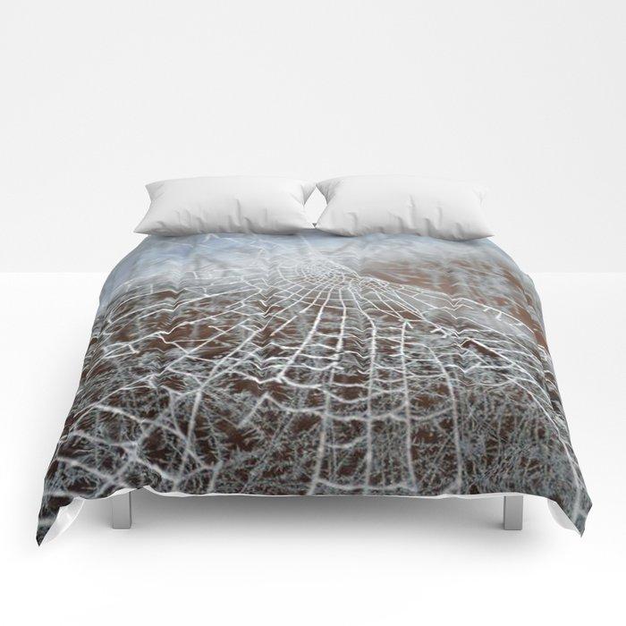 Snowed up Web  Comforters