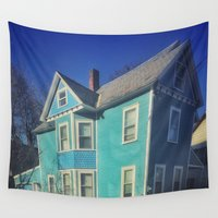 teal Wall Tapestries featuring Teal by Andy Bloxham