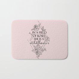 Wildflower quote Bath Mat