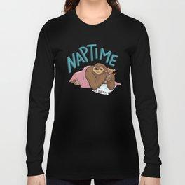 Nap Time Sloth Long Sleeve T-shirt