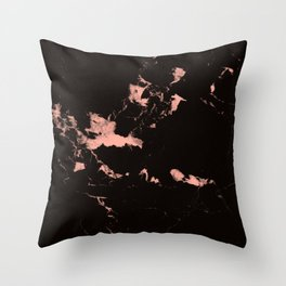 Black Marble #7 #decor #art #society6 Throw Pillow