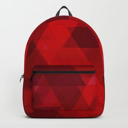 Bright red large triangles in the intersection and overlay. Backpack