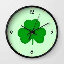 Happy Shamrock Wall Clock