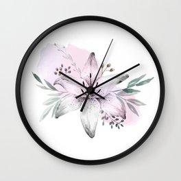 Lilium & Eucalyptus Wall Clock