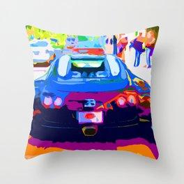 Bugatti Veyron On Rodeo  Throw Pillow