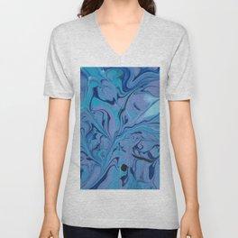 Pour Art: Black & Blue Unisex V-Neck