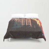denver Duvet Covers featuring City of Denver, Colorado by Isaak_Rodriguez