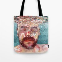 watercolour Tote Bags featuring Watercolour by Jose Manuel Hortelano-Pi
