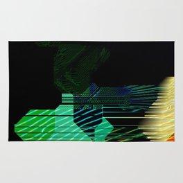 Abstract Alpha Grid Rug