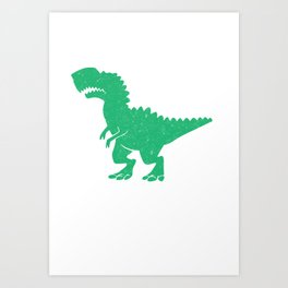T-Rex Hates Burpees Funny Fitness Workout Art Print
