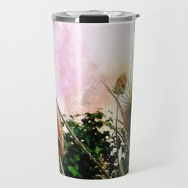 Thistles on a spring sky Travel Mug