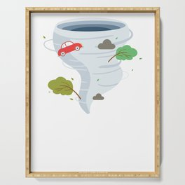 Awesome Tornado Storm Chaser Severe Weather Lover Serving Tray