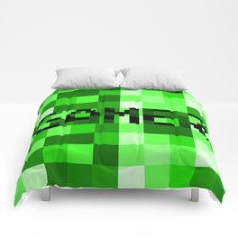 Green Pixel Gamer Comforters