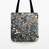 letters Tote Bags featuring Letters by Abby Wheeler