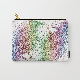 A Crow of Lace and Color Carry-All Pouch