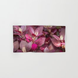 Pink Leaves Abstract Hand & Bath Towel