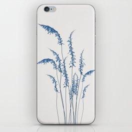 Blue flowers 2 iPhone Skin