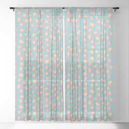 Leopard Baby - Pink and  Blue Sheer Curtain