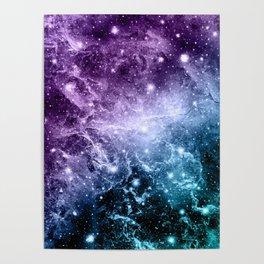 Purple Teal Galaxy Nebula Dream #4 #decor #art #society6 Poster