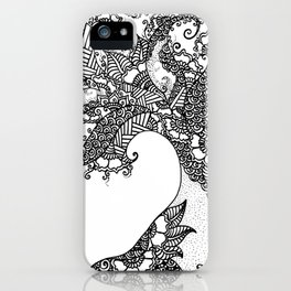 Zen Tree Rebirth White Left Half iPhone Case