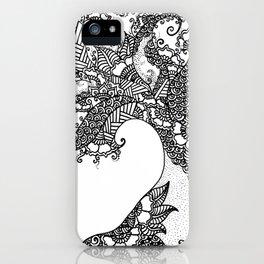 Zen Tree Rebirth White Left Half iPhone Case