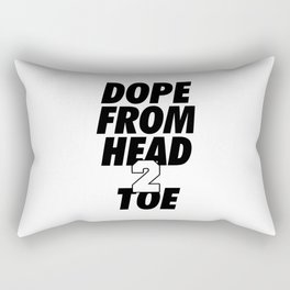Dope Head 2 Toe Rectangular Pillow