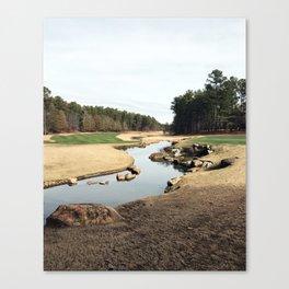 Golf Creek Winding Canvas Print