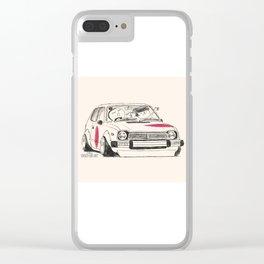 Crazy Car Art 0163 Clear iPhone Case