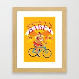 BABES ON BIKES Framed Art Print