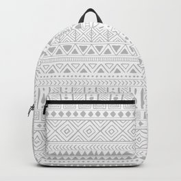 Hand Drawn African Patterns - Neutral Grey Backpack