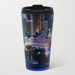 Light Streaks in Las Vegas, USA / Night City Series Travel Mug