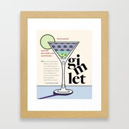 Gimlet Print Framed Art Print