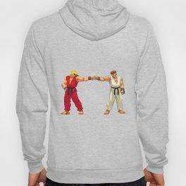 Ryu Hoshi and Ken Masters Pixel Art Hoody