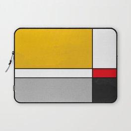 Mid century Modern yellow gray black red Laptop Sleeve