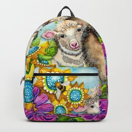 Sheep in the Summer Garden Backpack