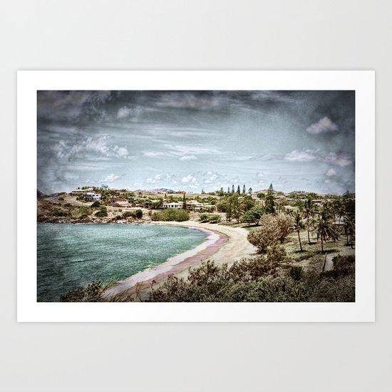 Living by the ocean Art Print