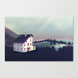 Castle in the Mountains Canvas Print