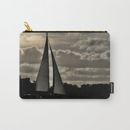 Yacht sailing in the sunset. Carry-All Pouch
