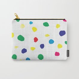 Watercolor bright dots in primary Carry-All Pouch