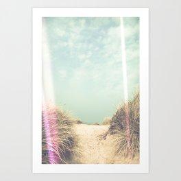 Light Leaks / The Way To The Beach Art Print