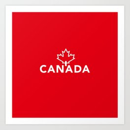 Canada with Maple Leaf Art Print